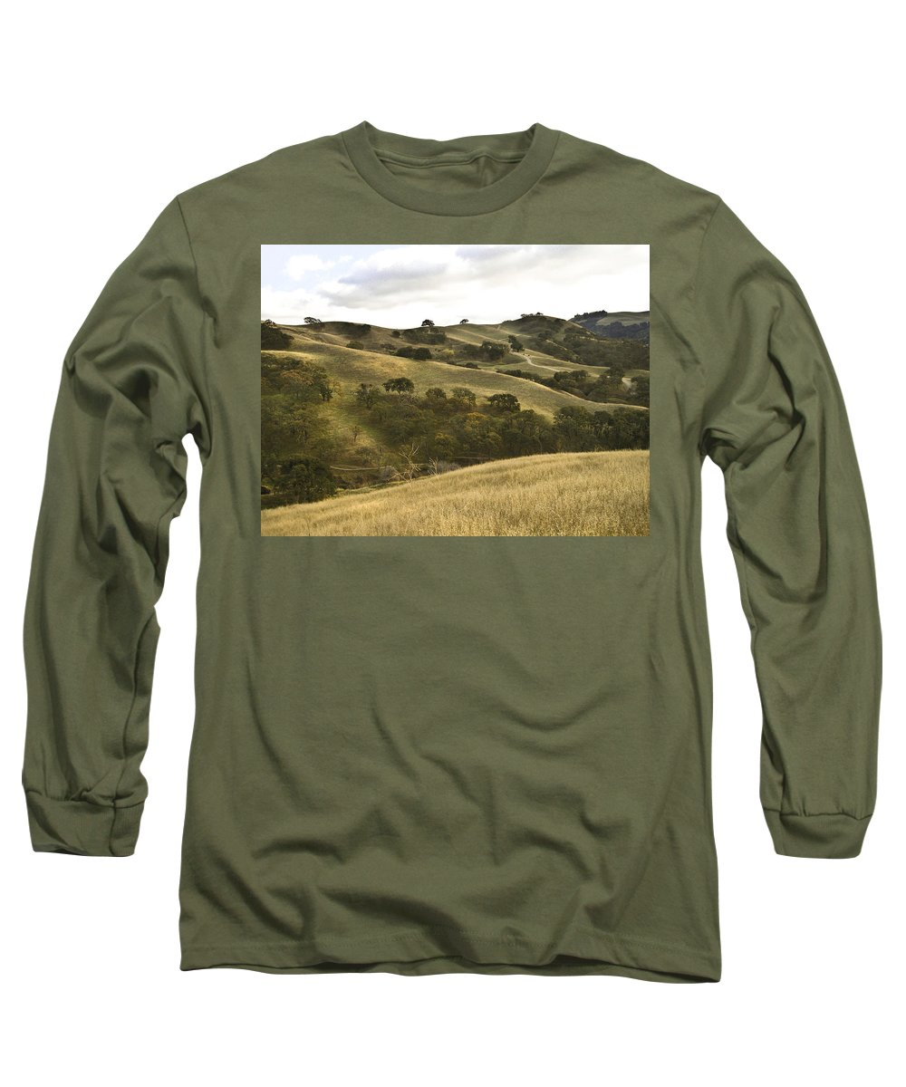 Landscape Long Sleeve T-Shirt featuring the photograph First Hill In Fall by Karen W Meyer