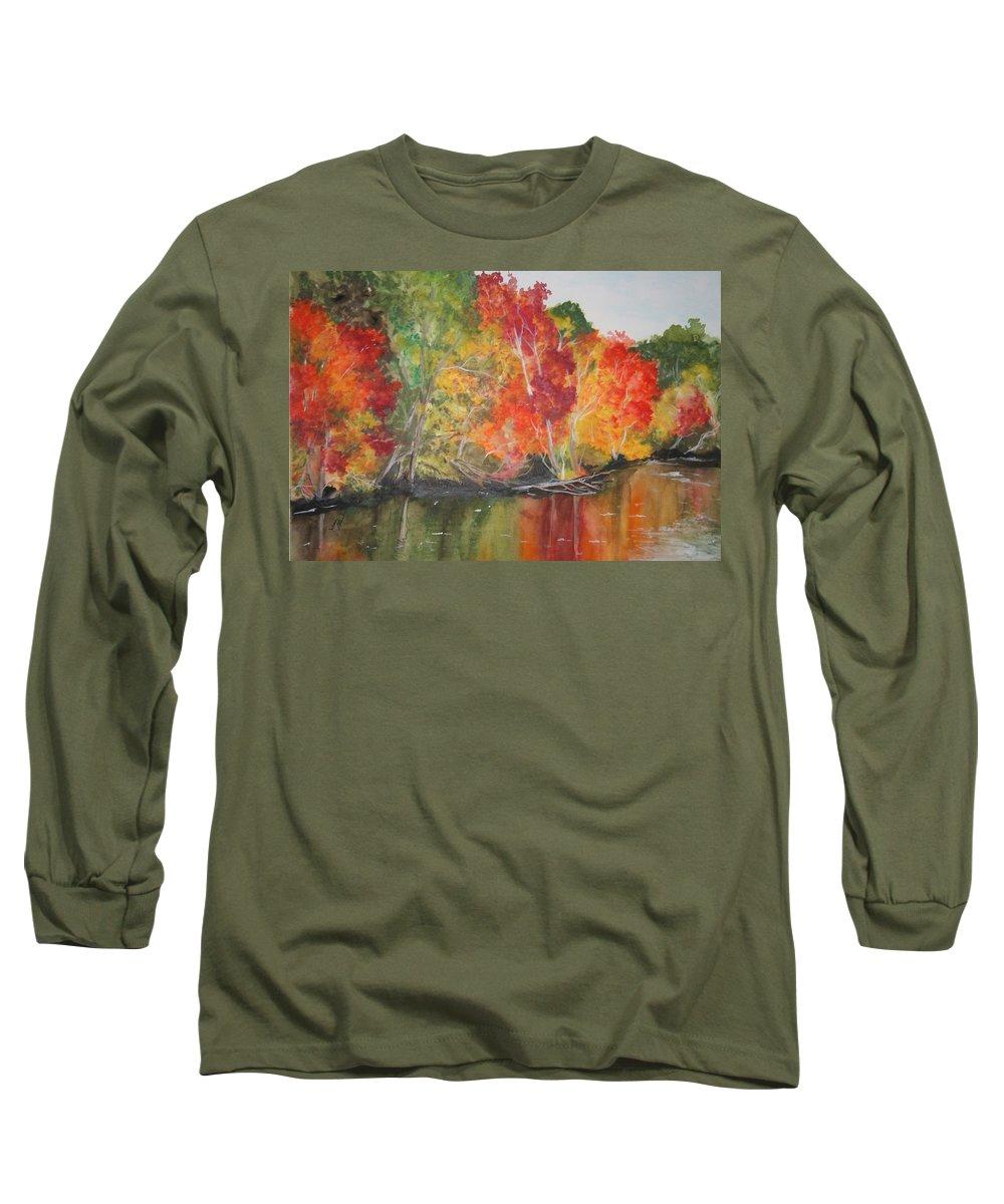 Autumn Long Sleeve T-Shirt featuring the painting Autumn Splendor by Jean Blackmer