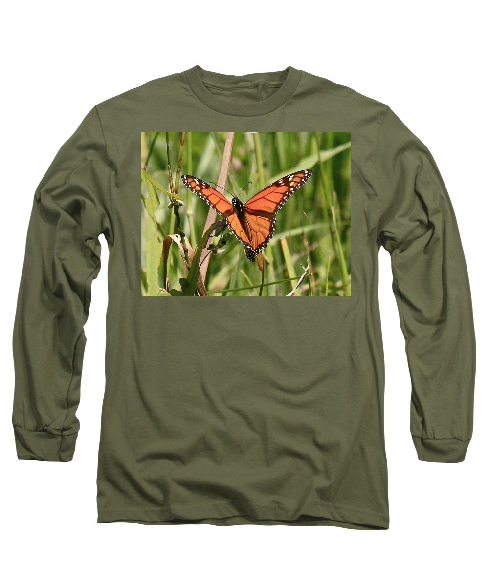 Butterfly Long Sleeve T-Shirt featuring the photograph Drying My Wings by Robert Pearson