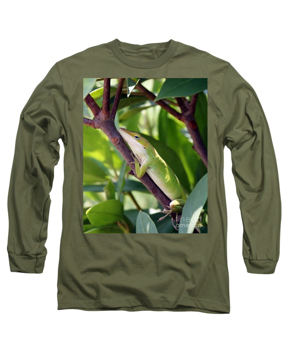 Photography Long Sleeve T-Shirt featuring the photograph Hanging On by Shelley Jones