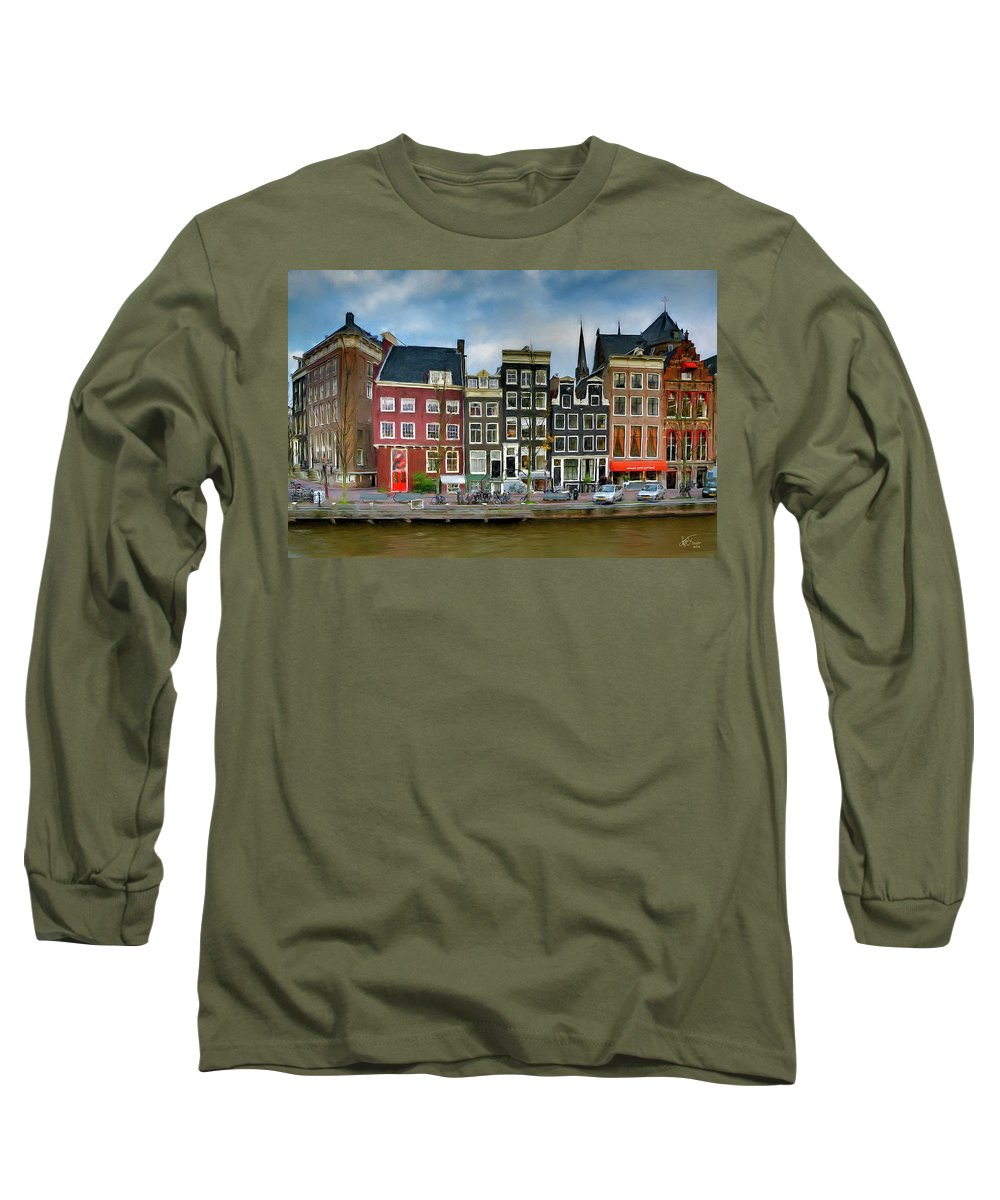 Amsterdam Long Sleeve T-Shirt featuring the photograph Herengracht 411. Amsterdam by Juan Carlos Ferro Duque