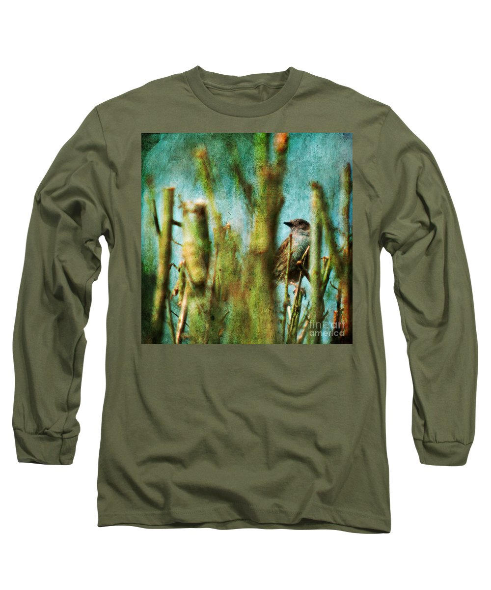 Thrush Long Sleeve T-Shirt featuring the photograph The Thrush by Angel Ciesniarska