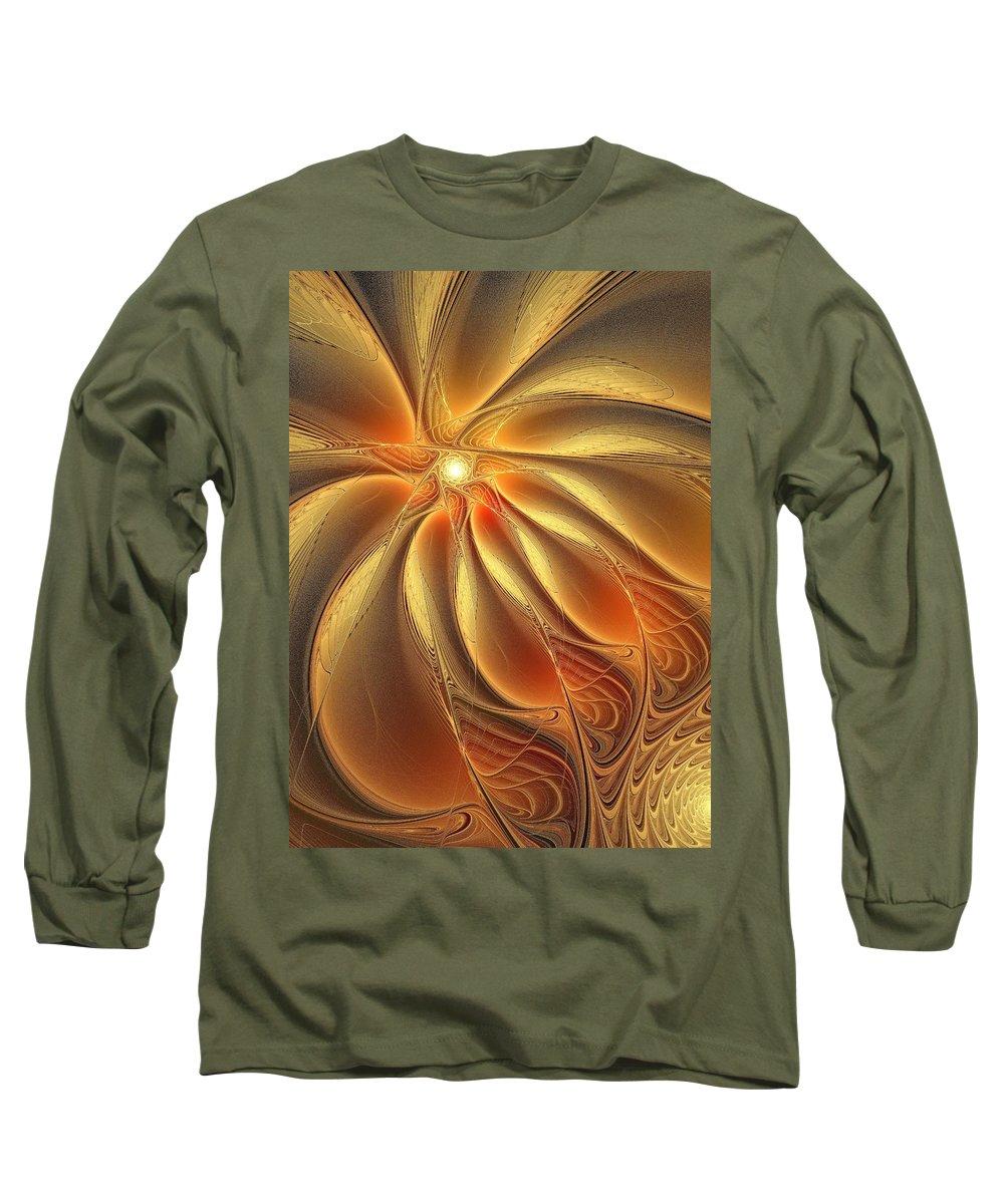 Digital Art Long Sleeve T-Shirt featuring the digital art Warm Feelings by Amanda Moore