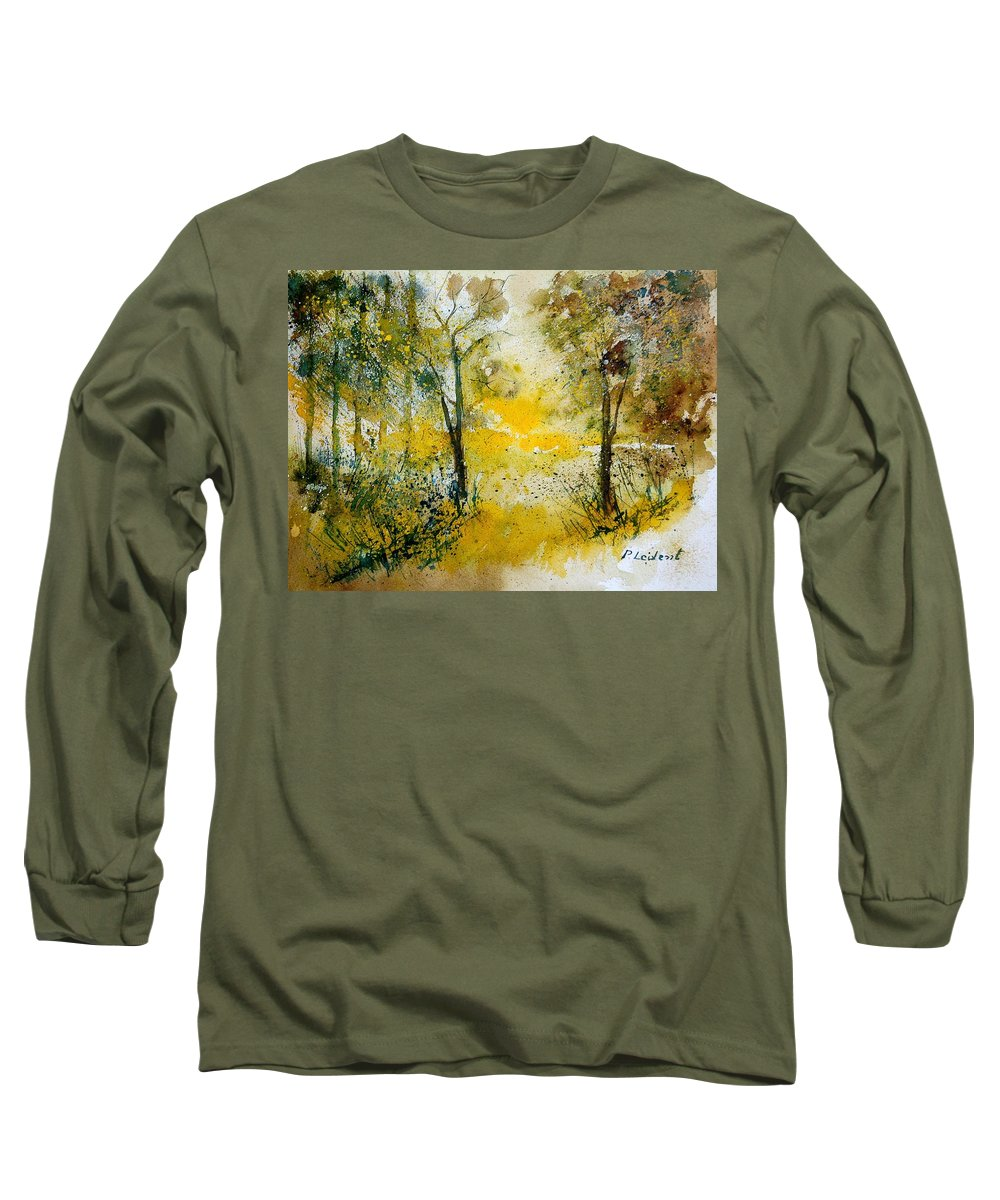Tree Long Sleeve T-Shirt featuring the painting Watercolor 210108 by Pol Ledent