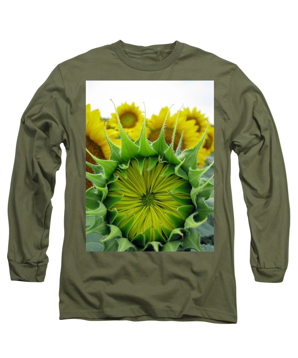 Sunflwoers Long Sleeve T-Shirt featuring the photograph Sunflower Series by Amanda Barcon