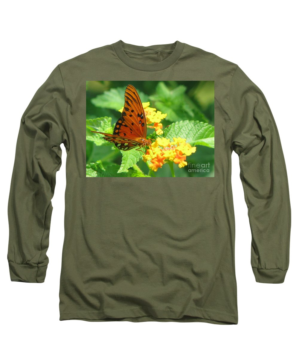 Butterfly Long Sleeve T-Shirt featuring the photograph Butterfly by Amanda Barcon