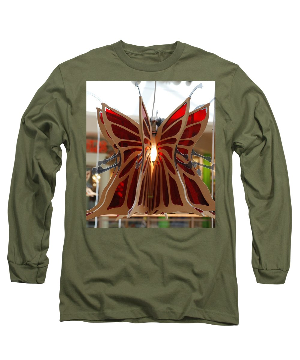 Butterfly Long Sleeve T-Shirt featuring the photograph Hanging Butterfly by Rob Hans