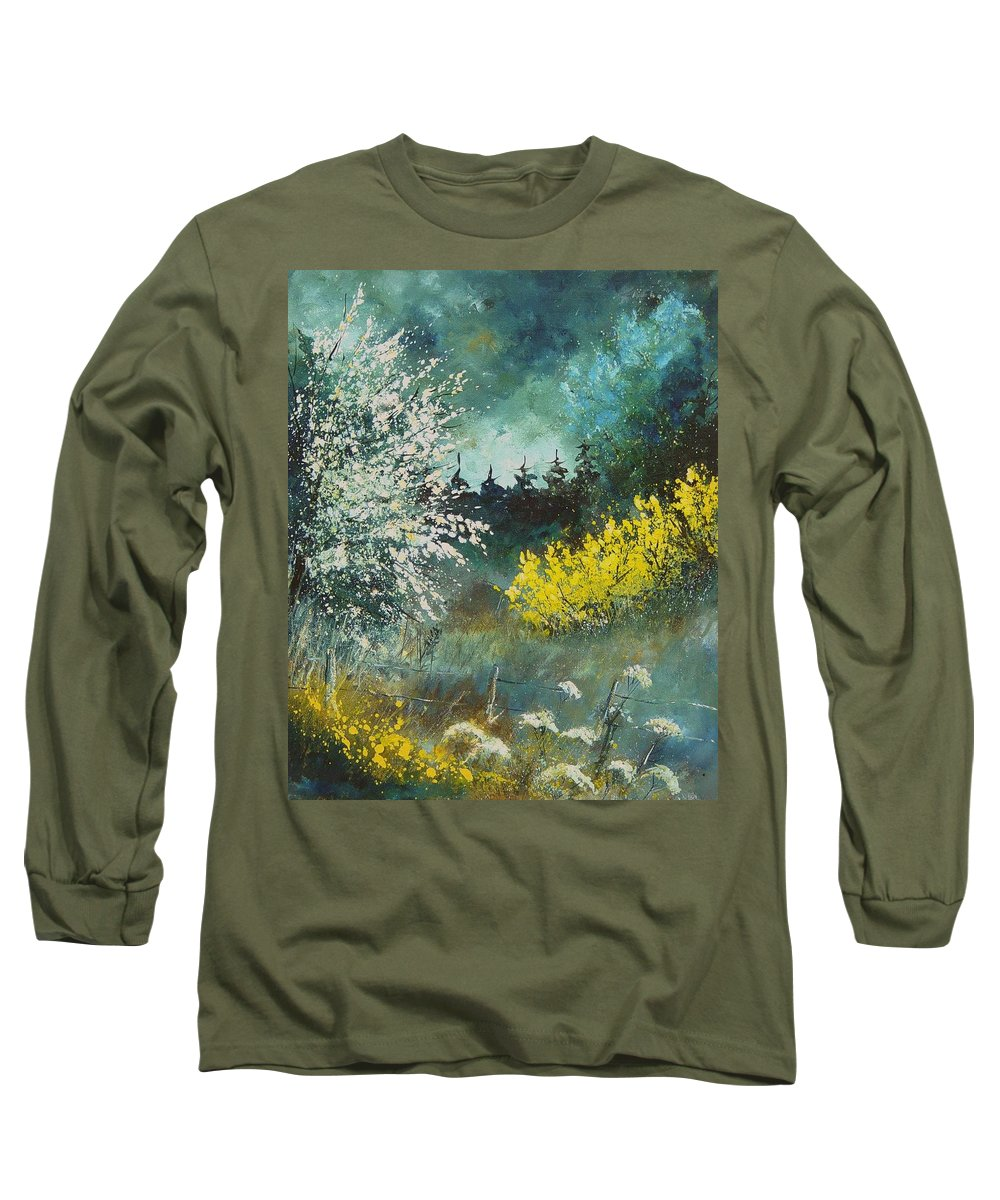 Spring Long Sleeve T-Shirt featuring the painting Spring by Pol Ledent