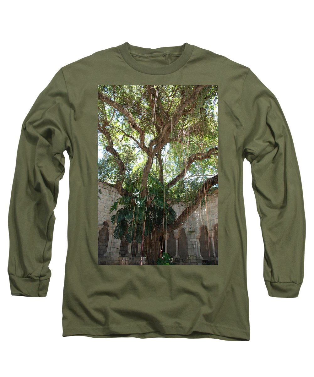 Architecture Long Sleeve T-Shirt featuring the photograph Miami Monastery by Rob Hans