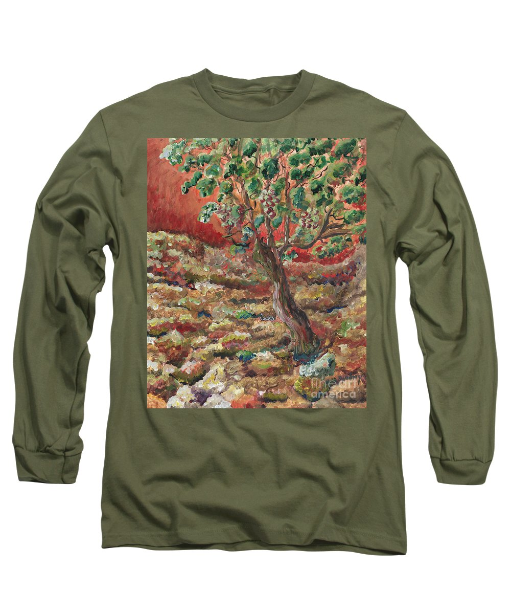 Abide Long Sleeve T-Shirt featuring the painting Abide by Nadine Rippelmeyer