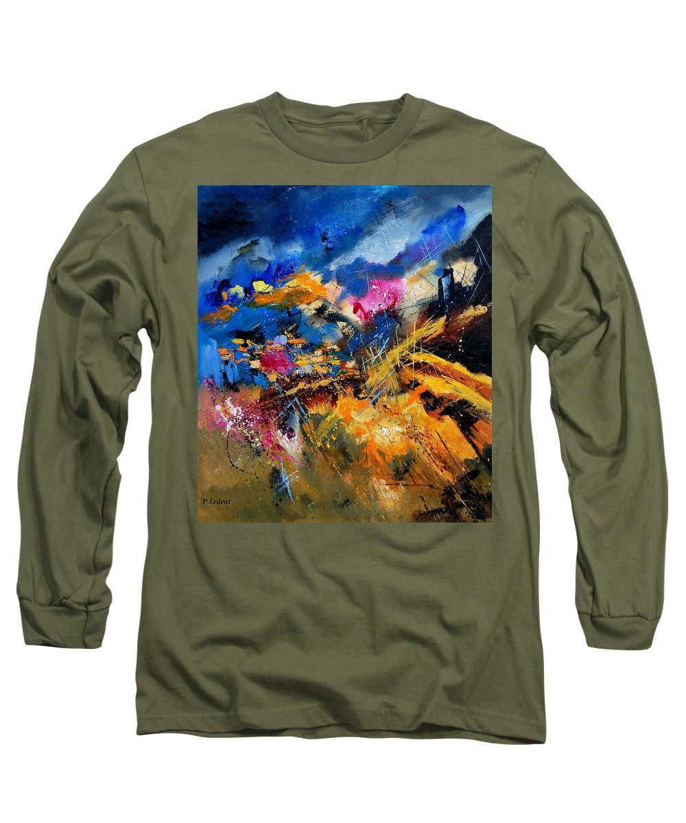 Abstract Long Sleeve T-Shirt featuring the painting Abstract 7808082 by Pol Ledent