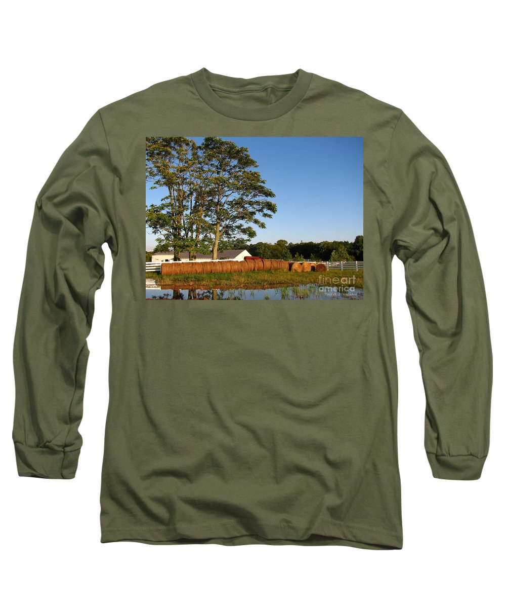 Landscape Long Sleeve T-Shirt featuring the photograph All In A Row by Todd A Blanchard