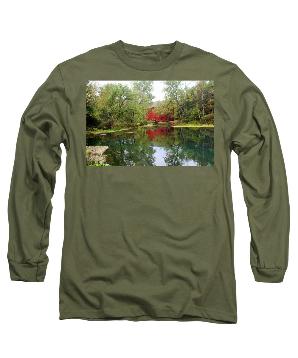 Mill Long Sleeve T-Shirt featuring the photograph Allsy Sprng Mill by Marty Koch