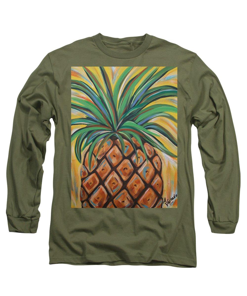 Aloha Long Sleeve T-Shirt featuring the painting Aloha by Angela Miles Varnado