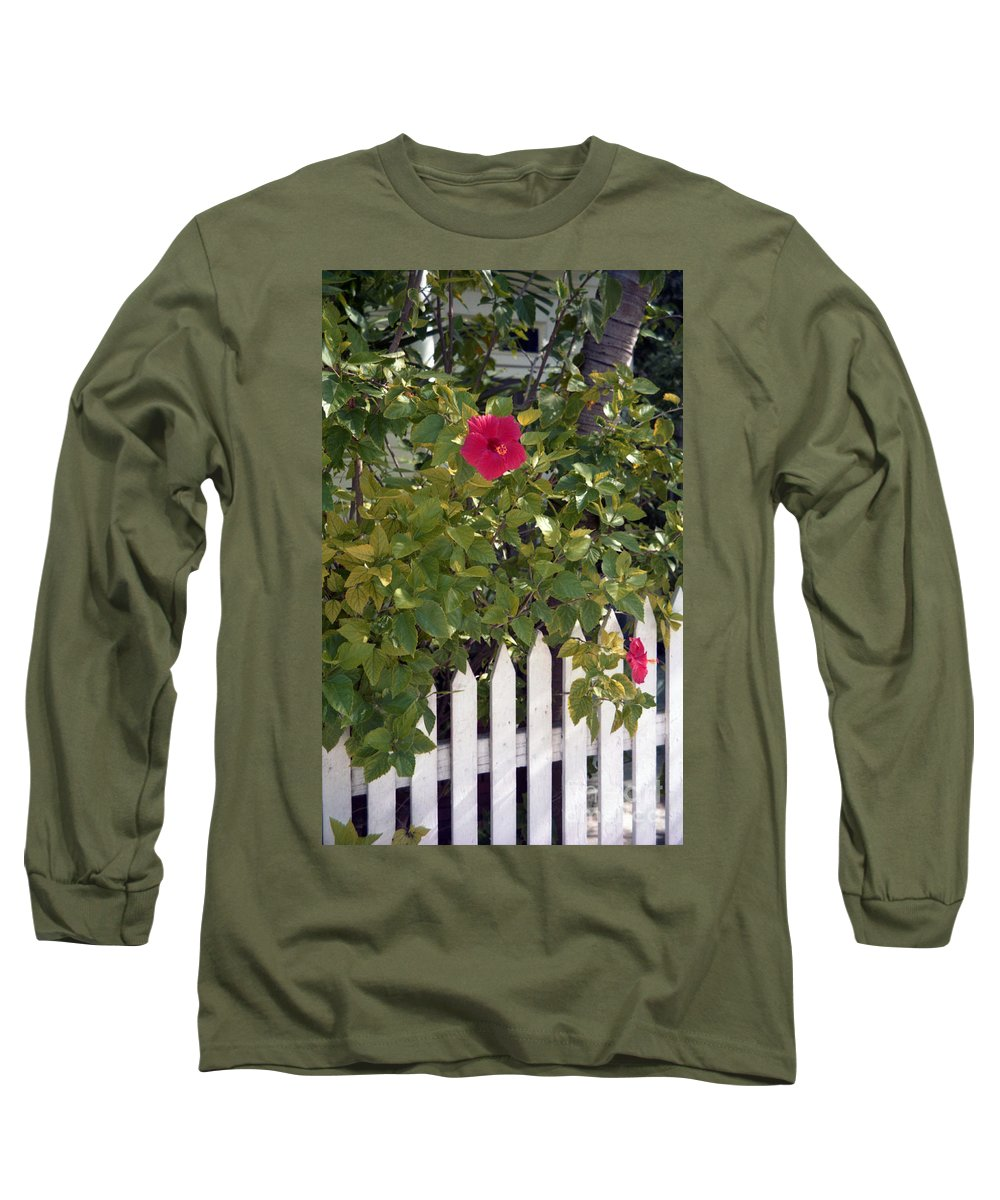 Azelea Long Sleeve T-Shirt featuring the photograph Along The Picket Fence by Richard Rizzo