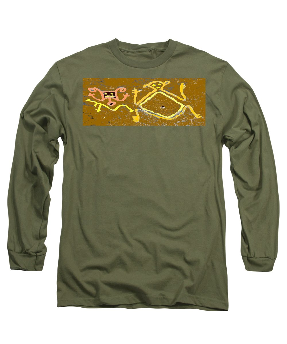 Native Long Sleeve T-Shirt featuring the photograph Ancient Drawings by Ian MacDonald