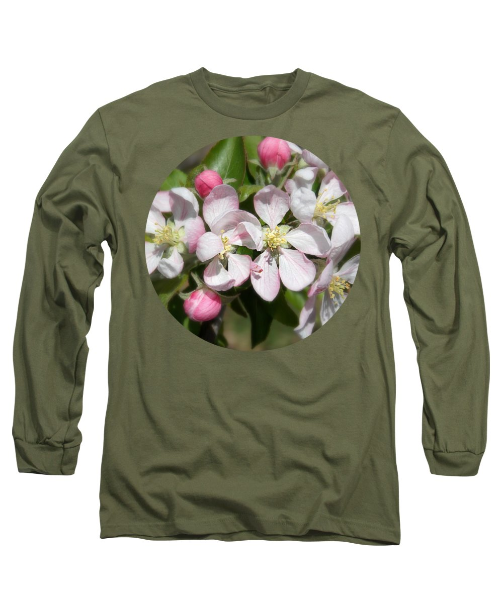Apple Blossom Time Long Sleeve T-Shirt featuring the photograph Apple Blossom Time by Anita Faye