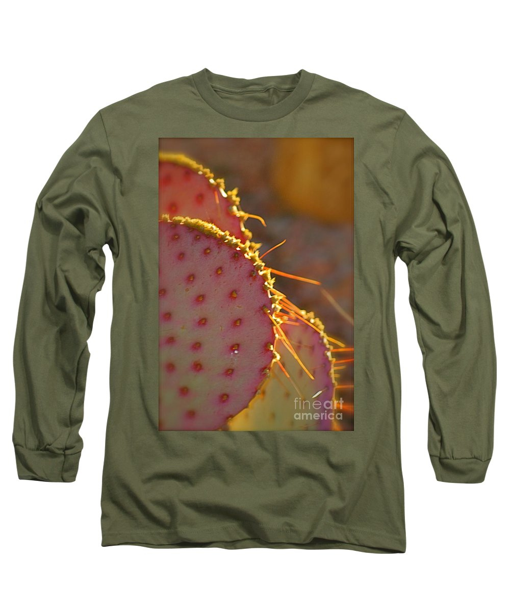 Cactus Long Sleeve T-Shirt featuring the photograph Arizona Cacti by Nadine Rippelmeyer