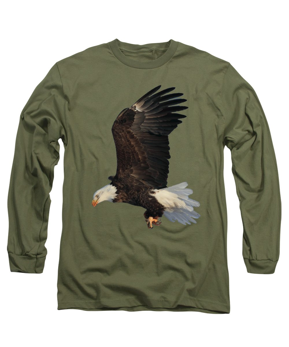 Bald Eagle Long Sleeve T-Shirt featuring the photograph Fly By by Shane Bechler