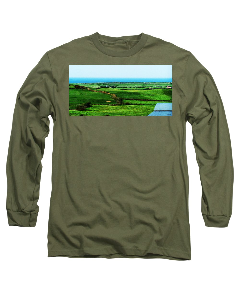 Ireland Long Sleeve T-Shirt featuring the photograph Atlantic View Doolin Ireland by Teresa Mucha