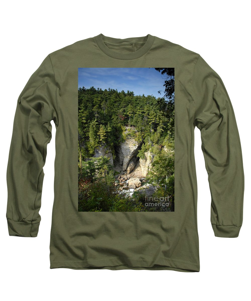 Ausable Chasm Long Sleeve T-Shirt featuring the photograph Ausable Chasm by David Lee Thompson