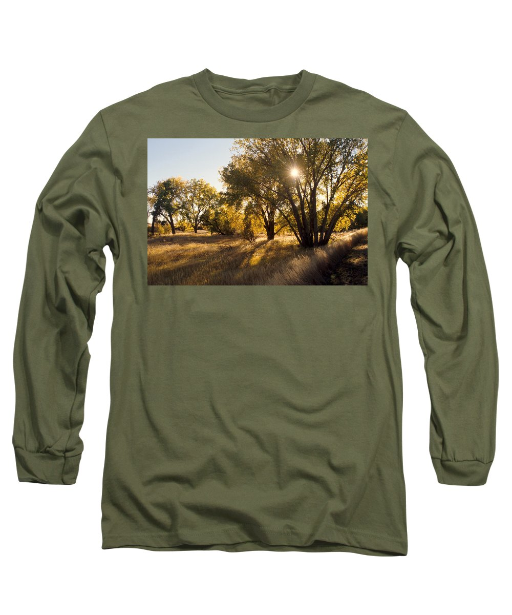Fall Long Sleeve T-Shirt featuring the photograph Autum Sunburst by Jerry McElroy