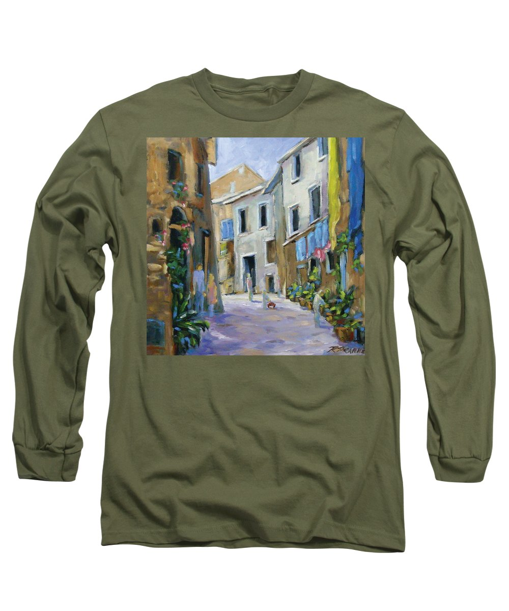 Urban Long Sleeve T-Shirt featuring the painting Back Street by Richard T Pranke