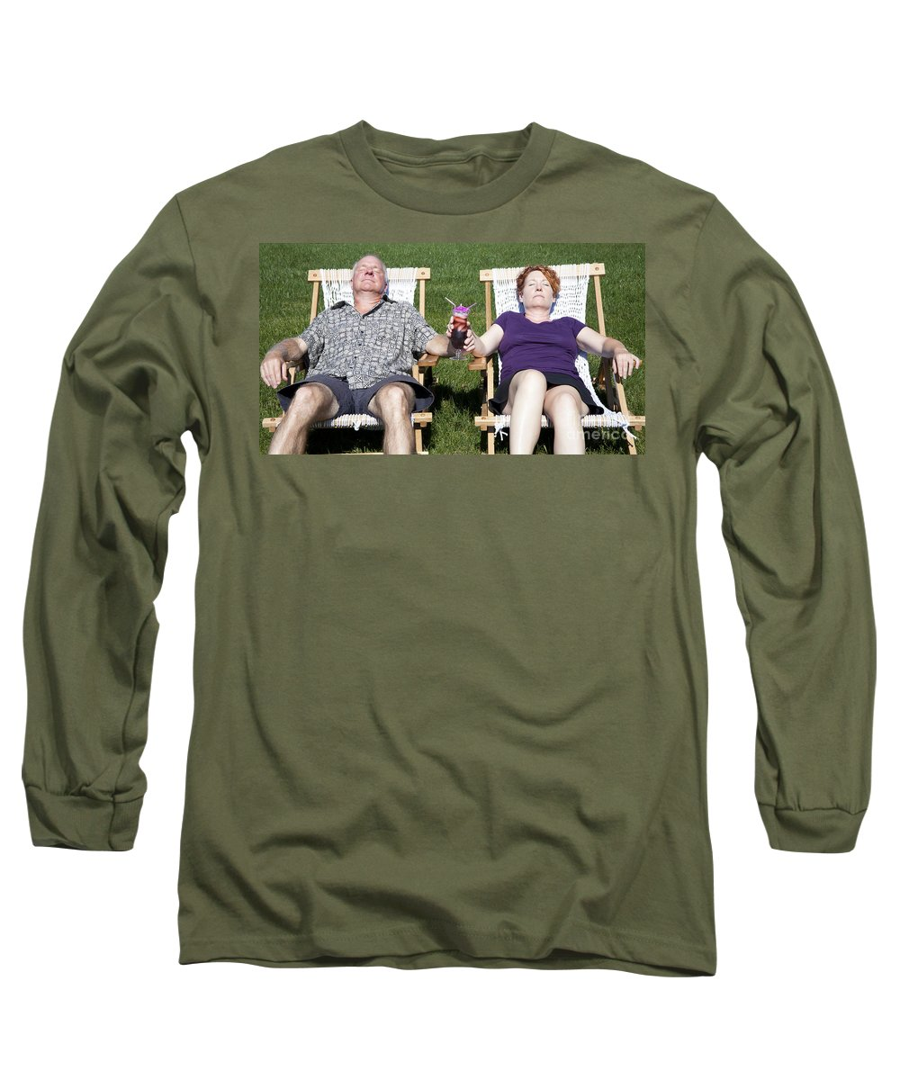 Alcohol Long Sleeve T-Shirt featuring the photograph Backyard Staycation by Karen Foley