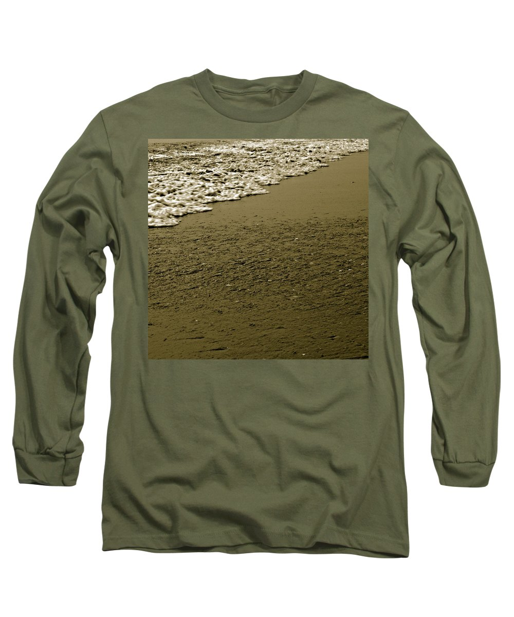 Water Long Sleeve T-Shirt featuring the photograph Beach Texture by Jean Macaluso