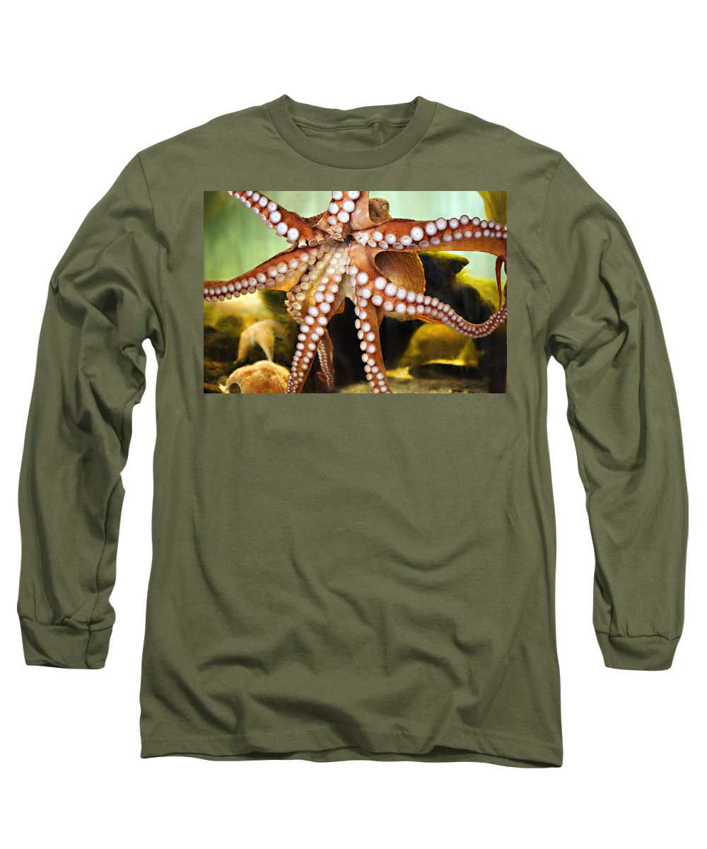 Octopus Long Sleeve T-Shirt featuring the photograph Beautiful Octopus by Marilyn Hunt