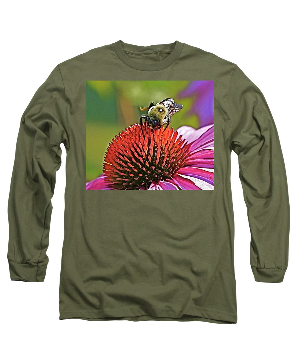 Bee Long Sleeve T-Shirt featuring the photograph Beware by Robert Pearson