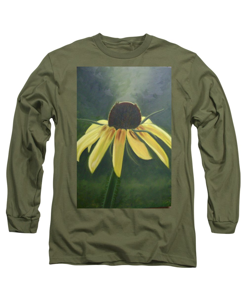 Flower Long Sleeve T-Shirt featuring the painting Black Eyed Susan by Toni Berry