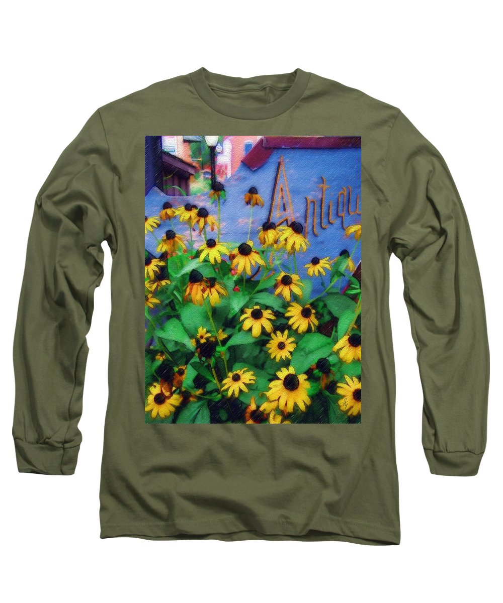 Flowers Long Sleeve T-Shirt featuring the photograph Black-eyed Susans At The Bag Factory by Sandy MacGowan