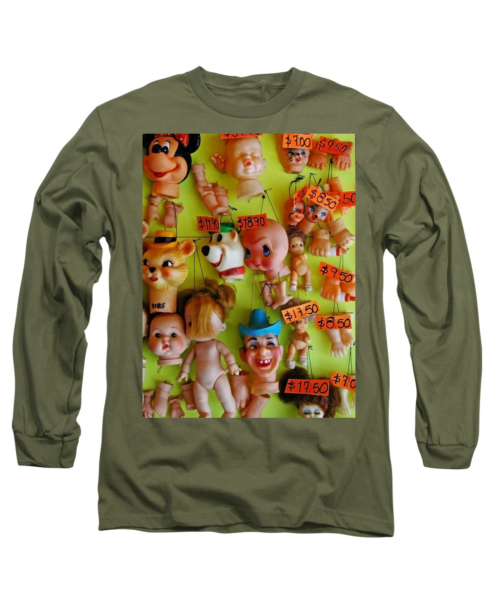 Heads Long Sleeve T-Shirt featuring the photograph Black Market Parts by Skip Hunt