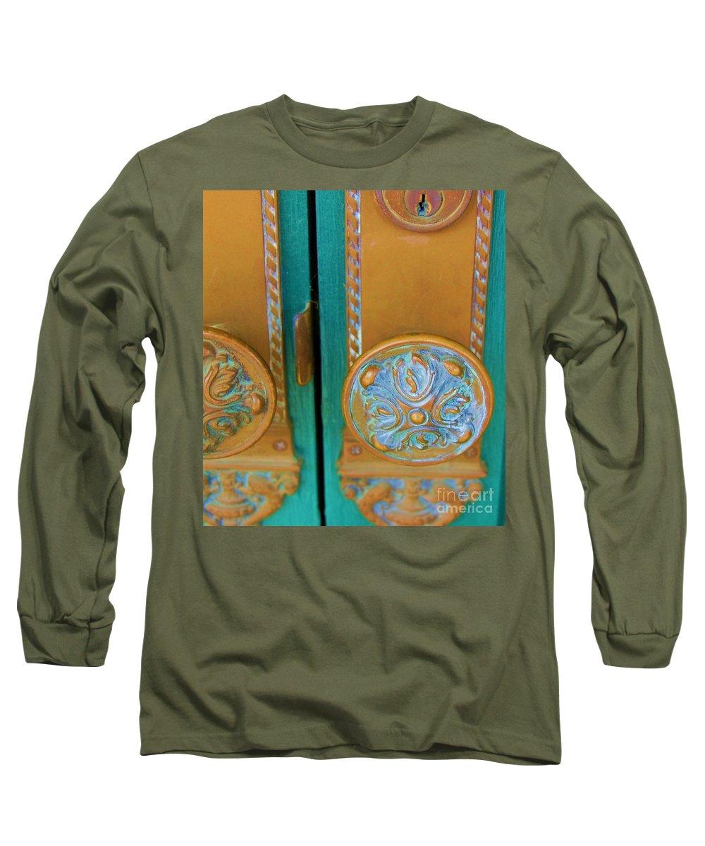 Door Long Sleeve T-Shirt featuring the photograph Brass Is Green by Debbi Granruth