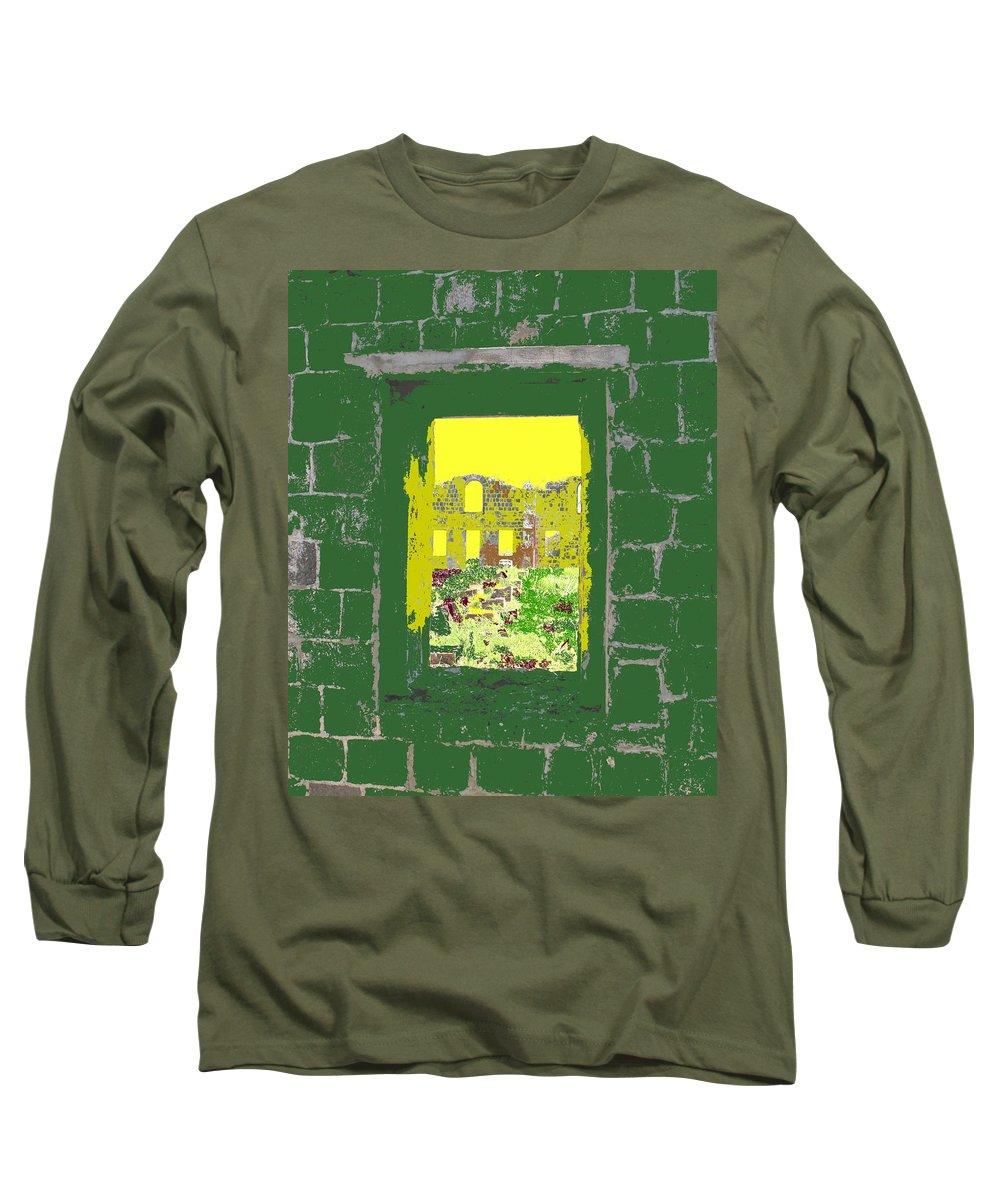 Brimstone Long Sleeve T-Shirt featuring the photograph Brimstone Window by Ian MacDonald