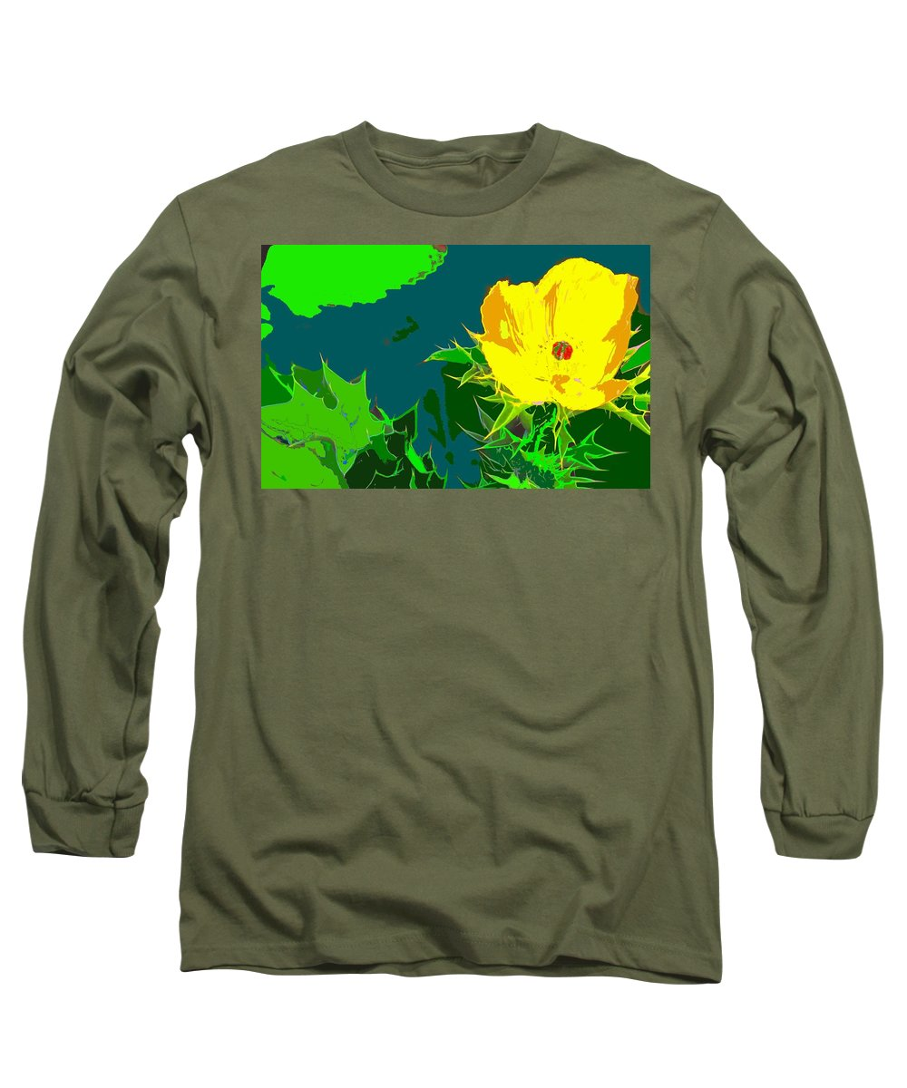 Long Sleeve T-Shirt featuring the photograph Brimstone Yellow by Ian MacDonald