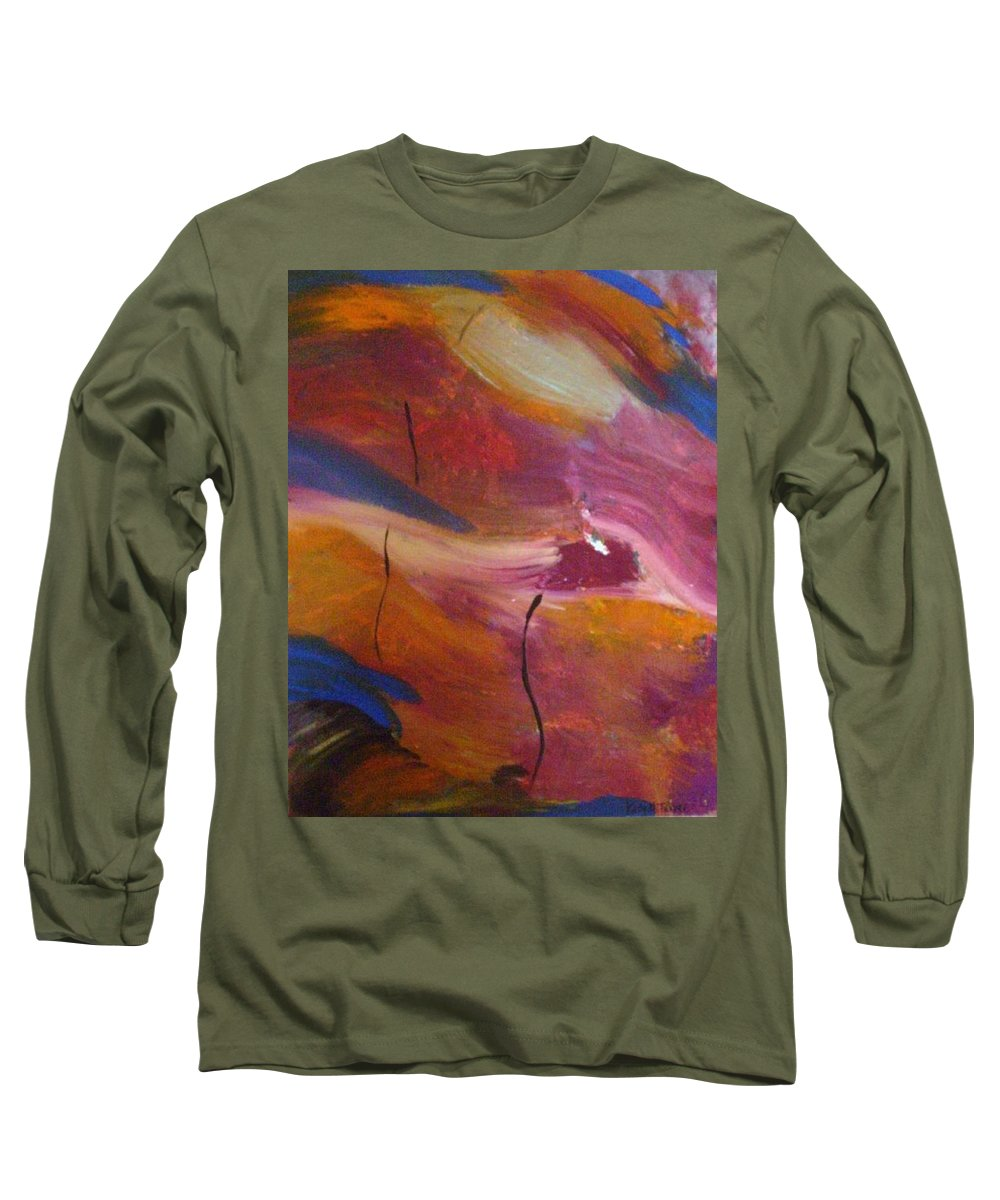 Abstract Art Long Sleeve T-Shirt featuring the painting Broken Heart by Kelly Turner