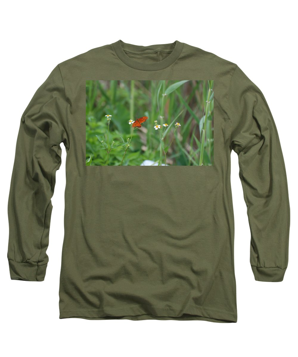 Butterfly Long Sleeve T-Shirt featuring the photograph Broken Wing by Rob Hans