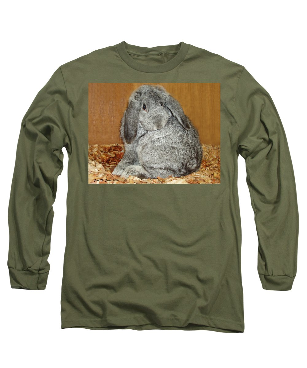 Bunny Long Sleeve T-Shirt featuring the photograph Bunny by Gina De Gorna