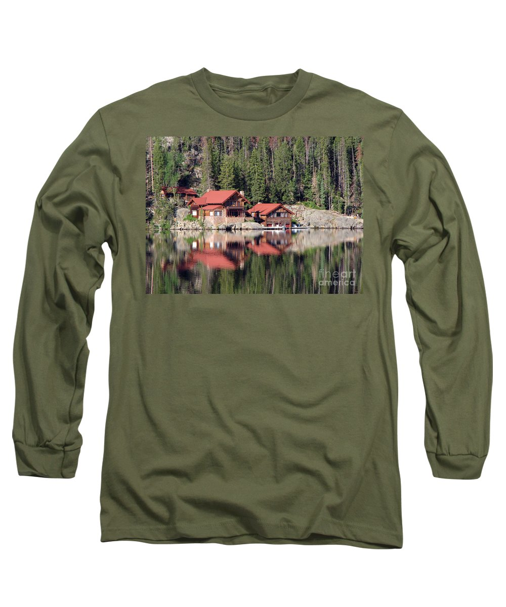 Cabin Long Sleeve T-Shirt featuring the photograph Cabin by Amanda Barcon