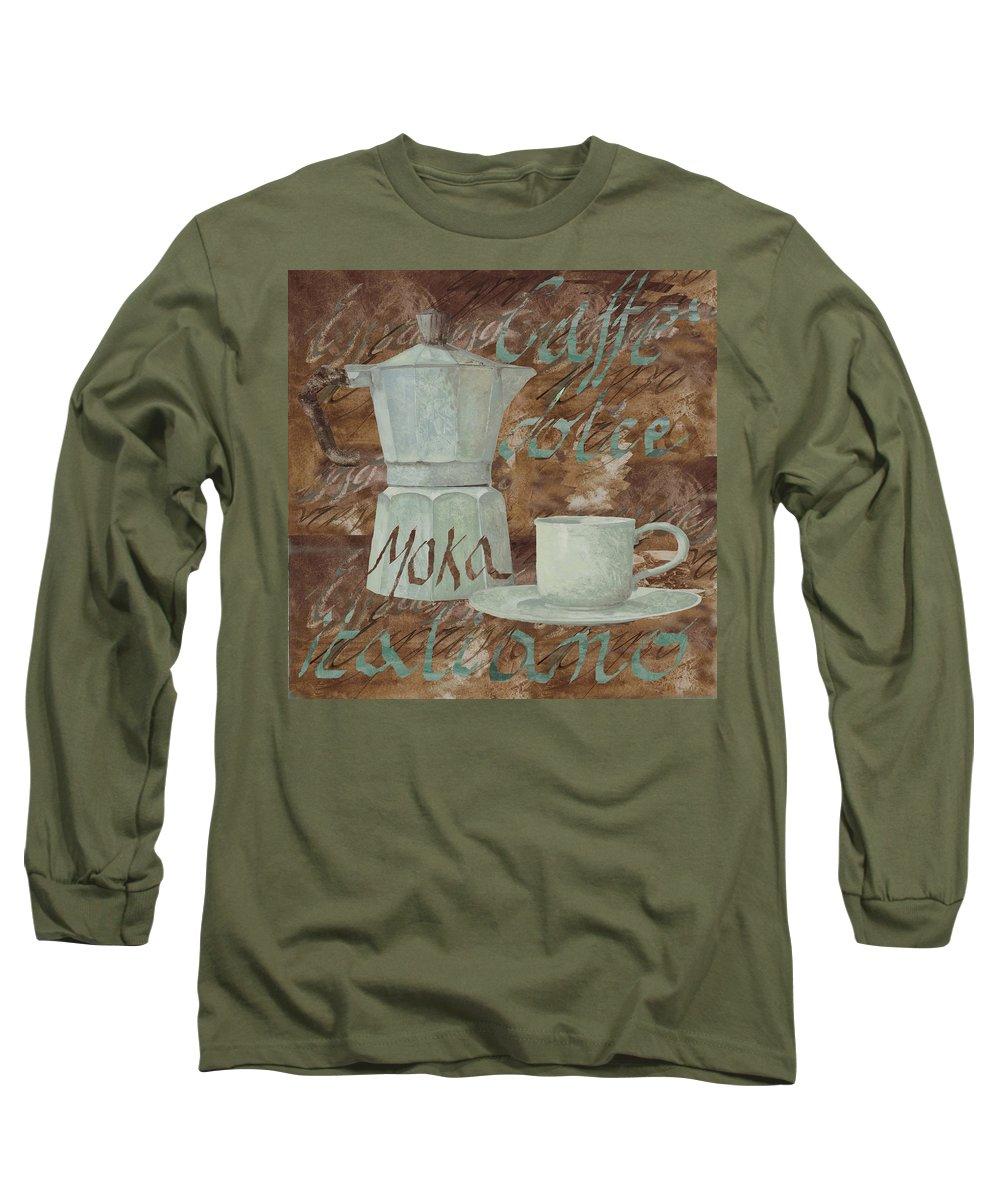 Mocha Paintings Long Sleeve T-Shirts