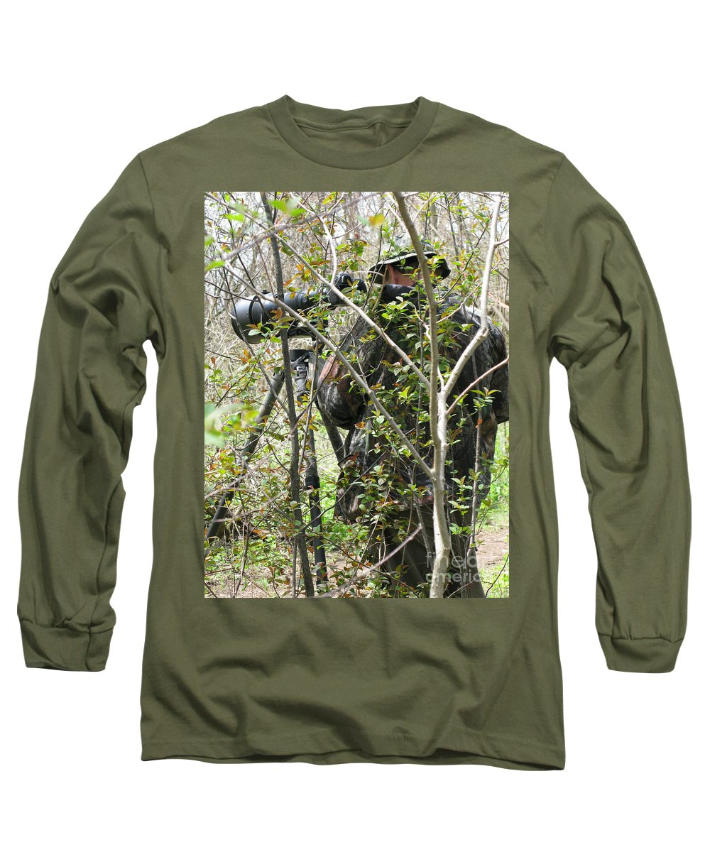Photographer Long Sleeve T-Shirt featuring the photograph Camouflage by Ann Horn