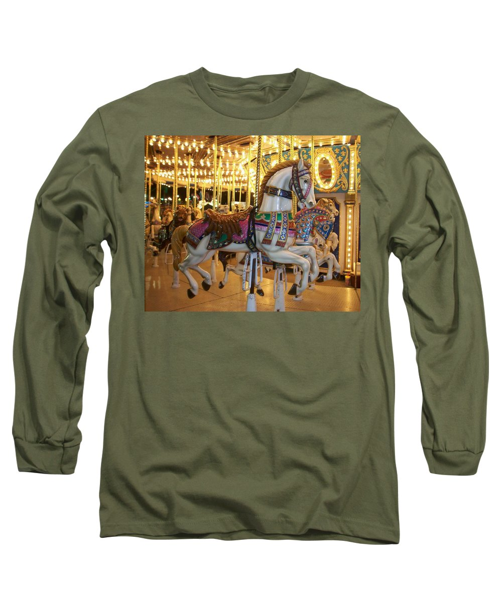 Carosel Horse Long Sleeve T-Shirt featuring the photograph Carosel Horse by Anita Burgermeister