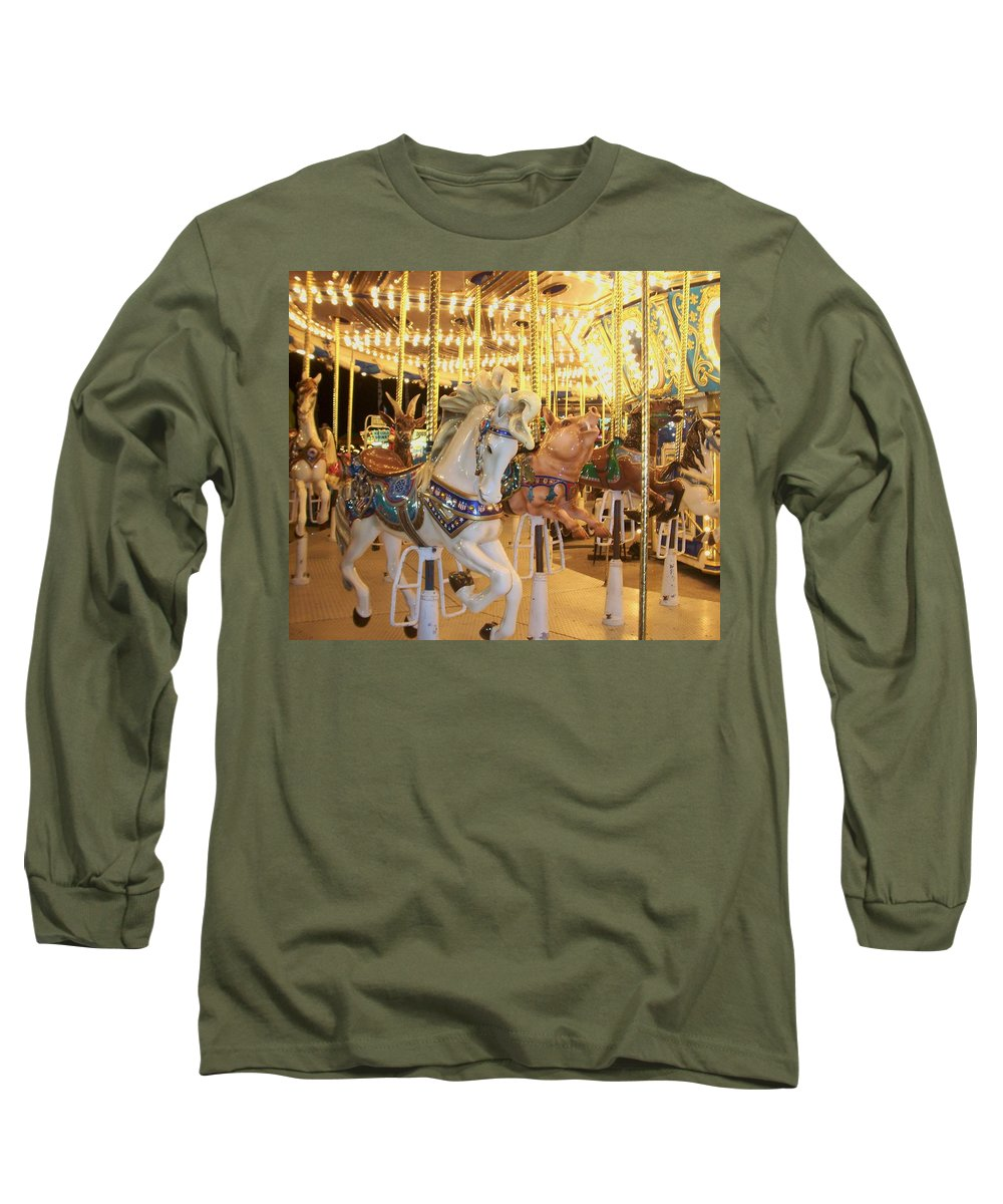 Carosel Horse Long Sleeve T-Shirt featuring the photograph Carousel Horse 2 by Anita Burgermeister