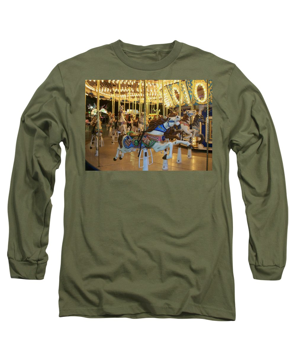 Carousel Horse Long Sleeve T-Shirt featuring the photograph Carousel Horse 3 by Anita Burgermeister