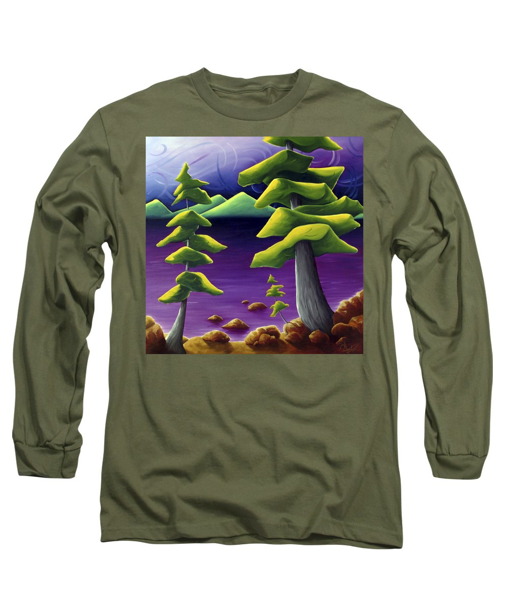 Landscape Long Sleeve T-Shirt featuring the painting Change Of Pace by Richard Hoedl