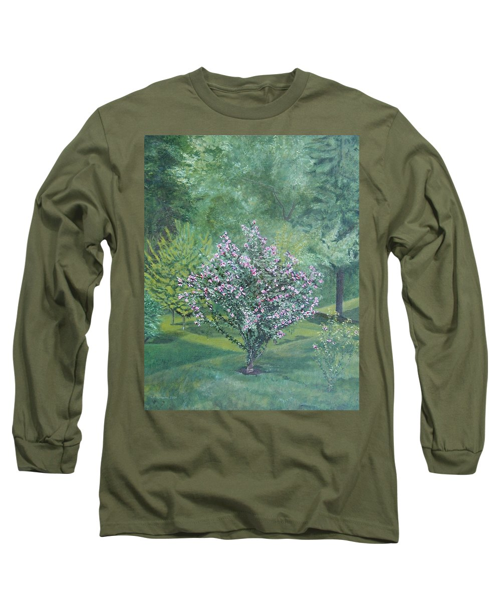 Blooming Long Sleeve T-Shirt featuring the painting Charles Street by Leah Tomaino