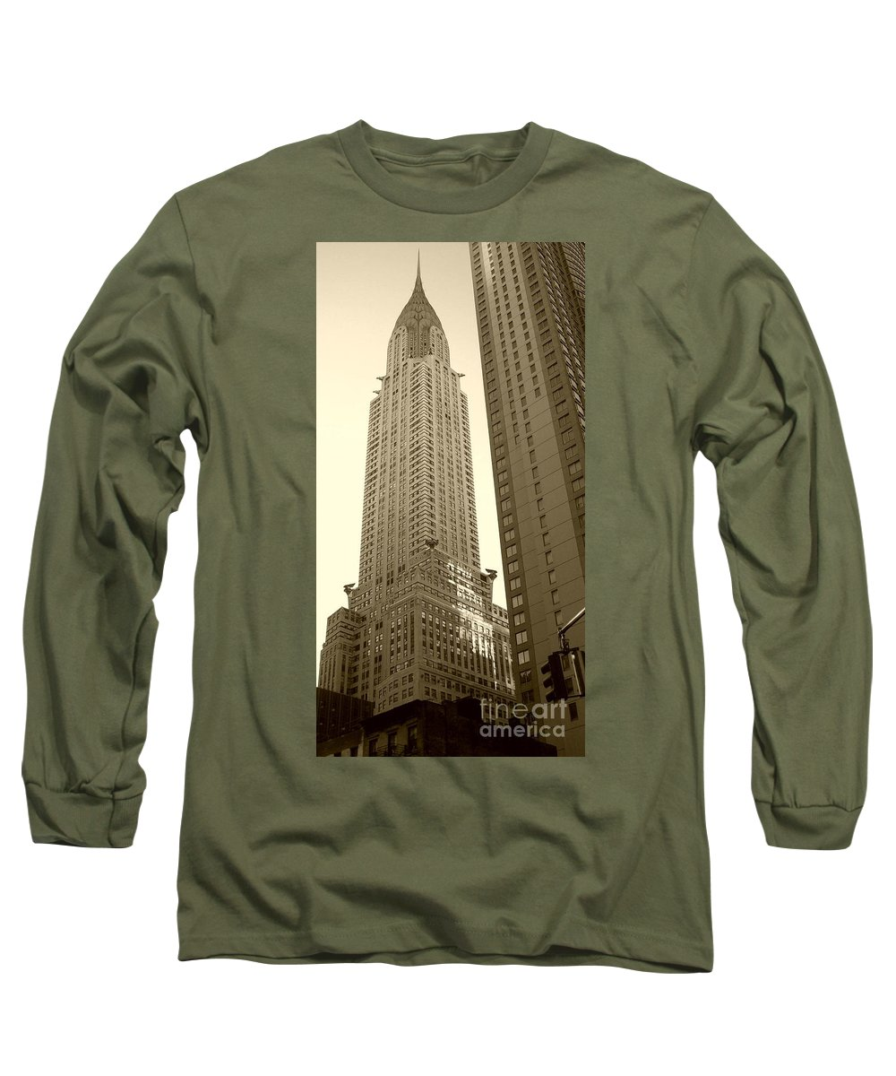 New York Long Sleeve T-Shirt featuring the photograph Chrysler Building by Debbi Granruth