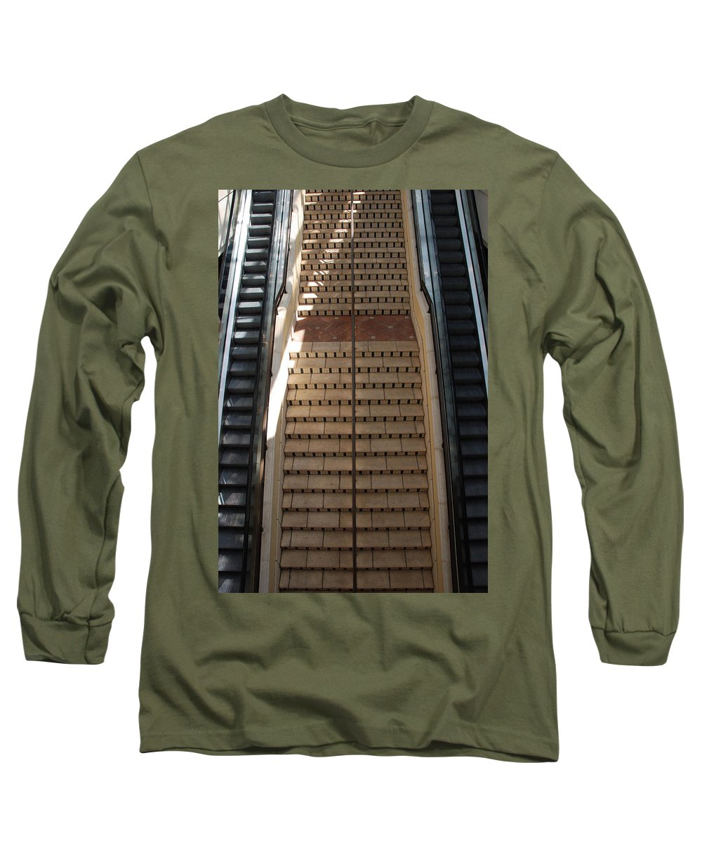 Stairs Long Sleeve T-Shirt featuring the photograph City Place Stairs by Rob Hans